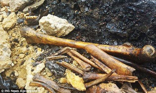 Phát hiện lượng lớn xương người thời Trung cổ dưới lòng đường ở Anh