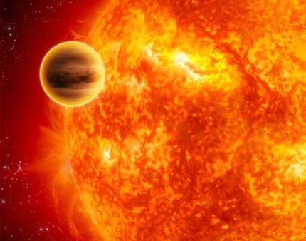 Phát hiện mới về hành tinh nóng khổng lồ WASP-12b