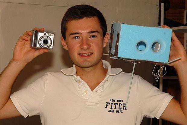 Sinh viên cho camera thăng thiên để chụp ảnh địa cầu