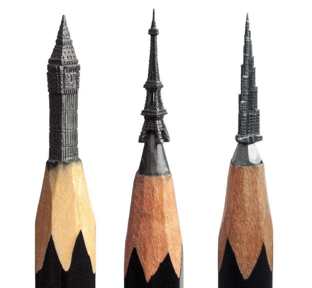 Tác phẩm nghệ thuật khó tin trên đầu bút chì