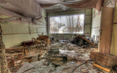 Thành phố ma hoang tàn gần Chernobyl
