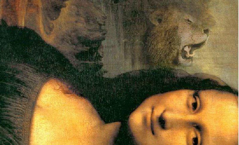 Tìm thấy ảnh động vật trong bức họa Mona Lisa