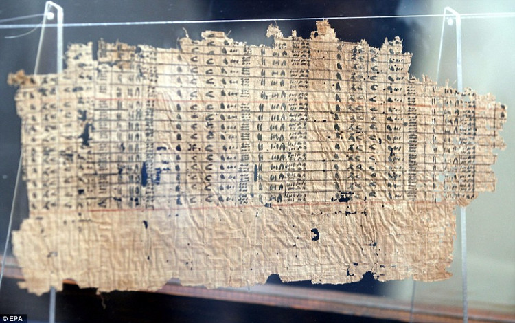 Tìm thấy nhật ký người xây kim tự tháp đã 4.500 năm tuổi