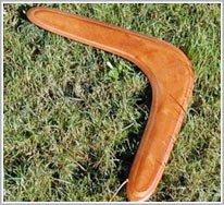 Trong vũ trụ, boomerang vẫn bay trở về