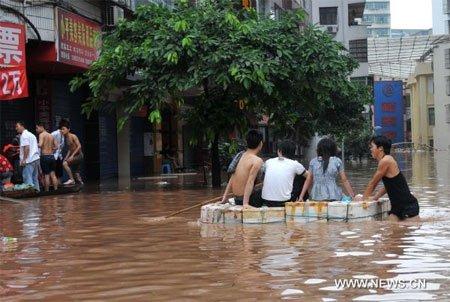 Trung Quốc đề phòng thảm họa địa chất gây lũ lụt