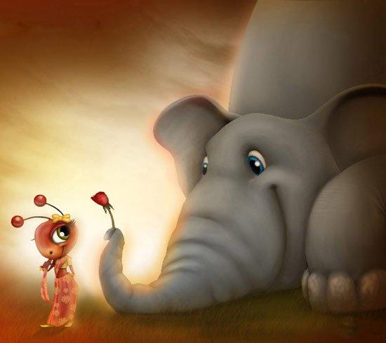 Vì sao ông voi khổng lồ sợ chú kiến tí hon?