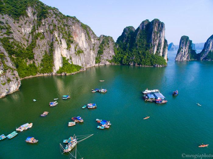 Vịnh Hạ Long - bối cảnh phim Kong: Skull Island tuyệt đẹp nhìn từ trên cao