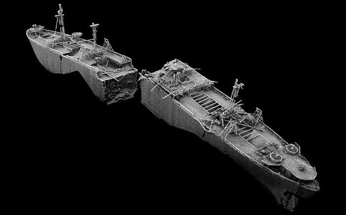 Xác tàu chứa hơn 2.000 bom dễ phát nổ từ Thế chiến II