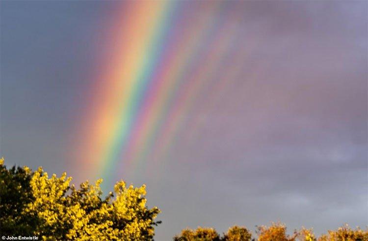 5 cầu vồng liên tiếp rực sáng trên bầu trời Mỹ