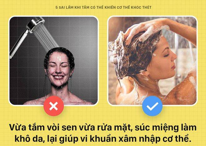 5 sai lầm khi tắm có thể khiến cơ thể bạn khóc thét