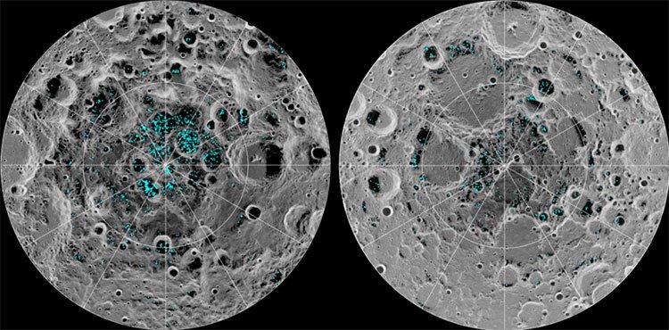 Các nhà khoa học xác nhận băng tồn tại trên Mặt Trăng