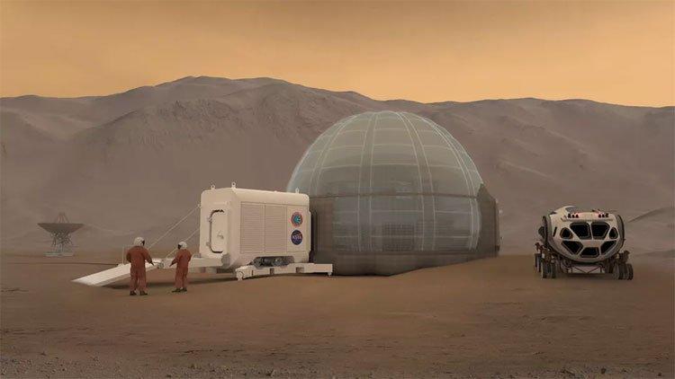 Cận cảnh ngôi nhà sao Hỏa của NASA