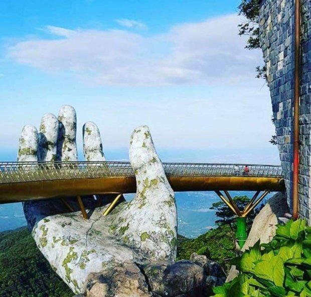 Chùm ảnh Cầu Vàng Đà Nẵng đẹp mê hồn du khách