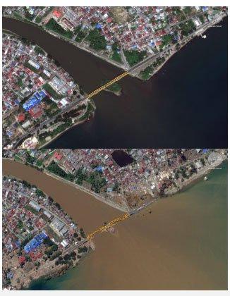 Hình ảnh trước - sau này cho thấy động đất khiến 1200 người chết ở Indonesia kinh khủng thế nào