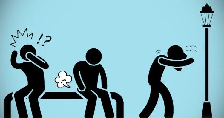 Khí xì hơi có thể thoát ra từ mũi và miệng nếu bạn cố nhịn