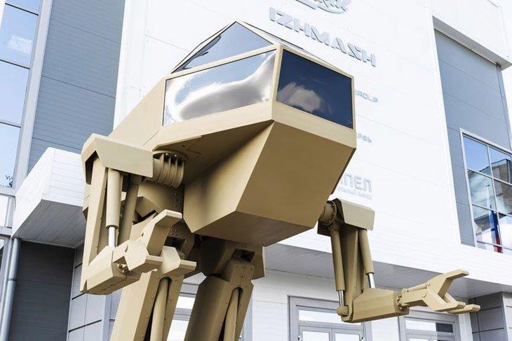 Nga trình làng robot chiến đấu khổng lồ với thiết kế giống khủng long bạo chúa