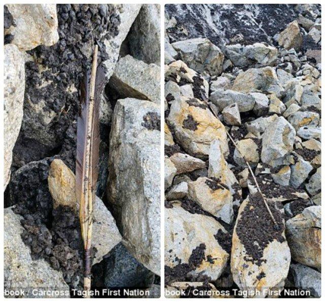 Phát hiện một ngọn giáo 1.000 tuổi được bảo tồn trong băng đang tan