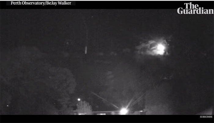Phát hiện quả cầu lửa khổng lồ trên bầu trời đêm ở Perth, Úc