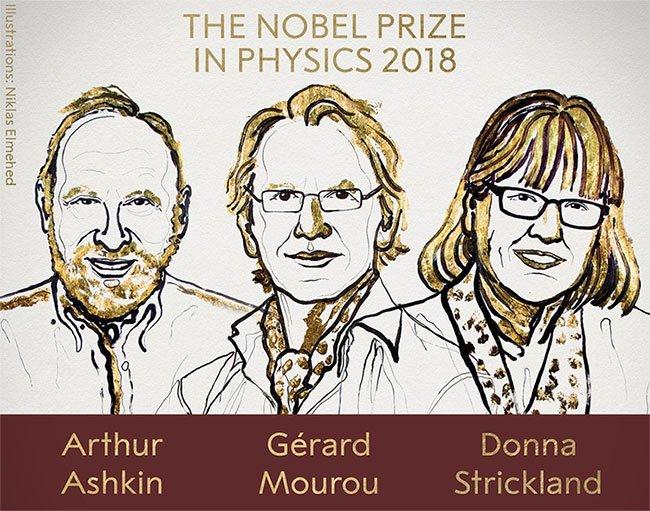 Phát minh về laser đoạt giải Nobel Vật lý 2018