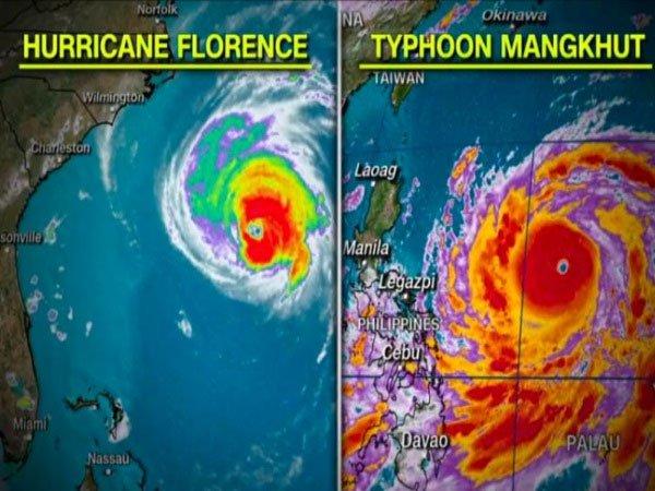 Siêu bão Mangkhut đang trên đà mạnh ngang với siêu bão Haiyan