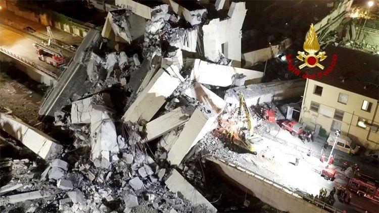 Video mới công bố về khoảnh khắc sập cầu ở Ý khiến 43 người chết