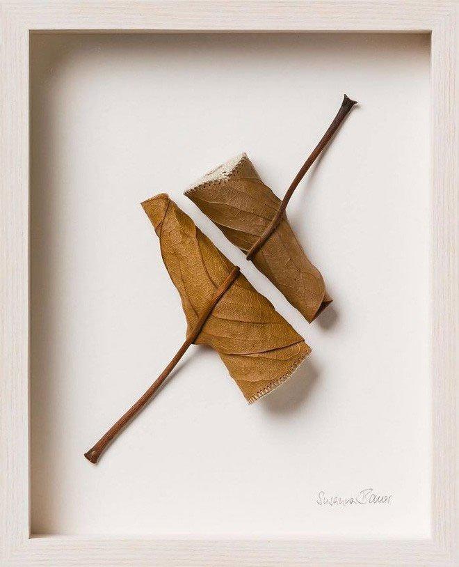 23 tác phẩm độc đáo cho thấy lá cây cũng có thể trở thành tuyệt tác nghệ thuật