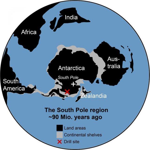 90 triệu năm trước, phía Tây Nam Cực là một rừng mưa rộng lớn
