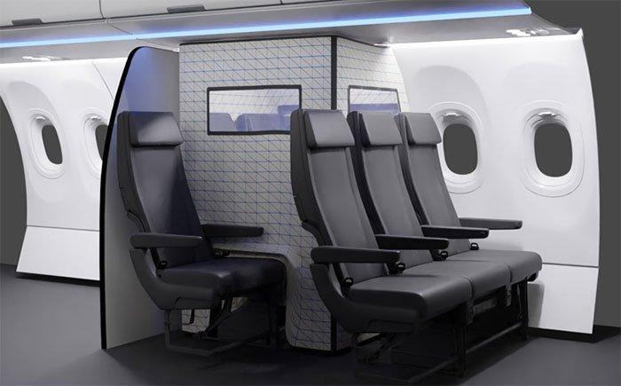 Airbus thiết kế lều cách ly Covid-19 ngay trên máy bay