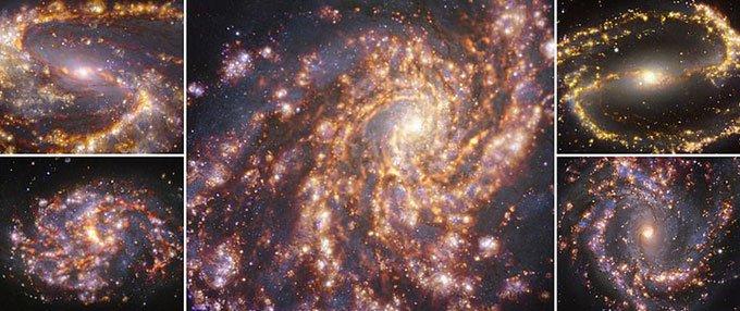 Ảnh chụp chong chóng pháo hoa trong thiên hà lân cận