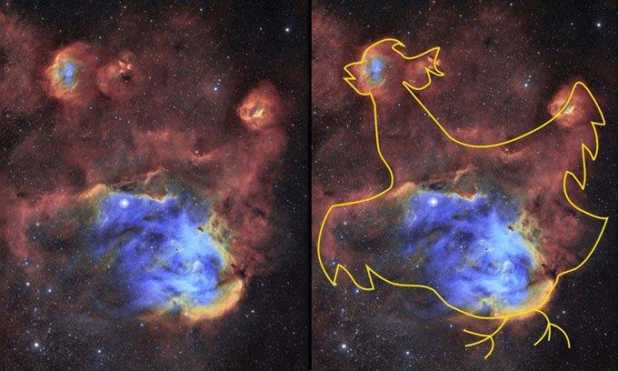 Ảnh chụp tinh vân gà chạy cách 6.000 năm ánh sáng