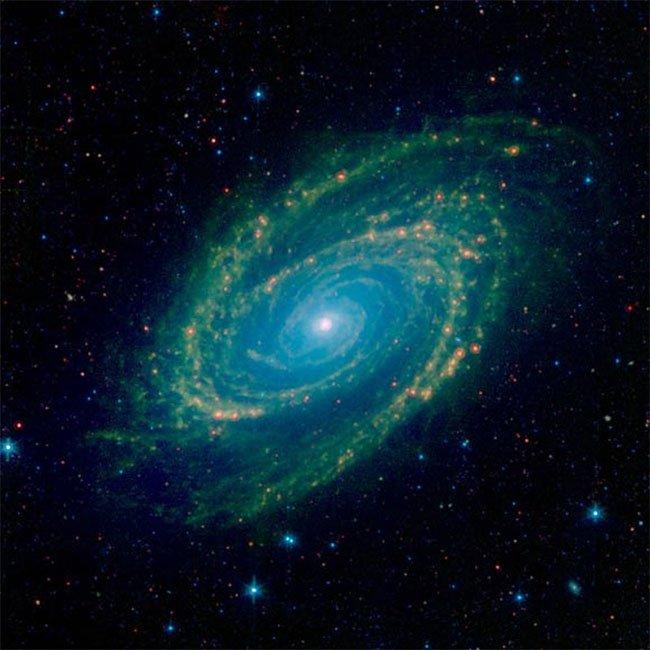 Ảnh hồng ngoại thiên hà Messier 81 khoe sắc cực đẹp