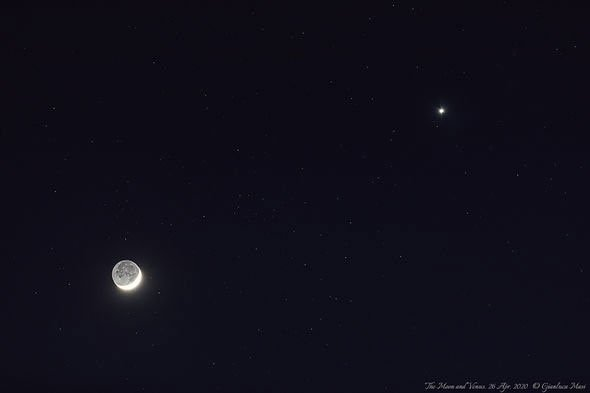 Ánh sáng kì lạ xuất hiện bên cạnh Mặt trăng cuối tuần qua là gì?