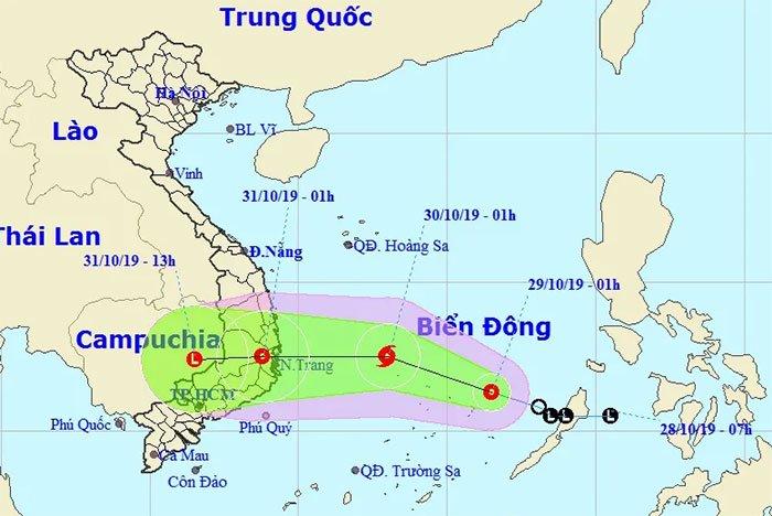 Áp thấp nhiệt đới di chuyển nhanh trên biển, khả năng mạnh thành bão