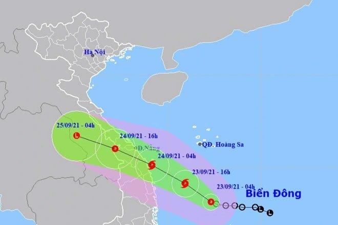Áp thấp nhiệt đới khả năng mạnh thành bão đang hướng vào Đà Nẵng - Phú Yên