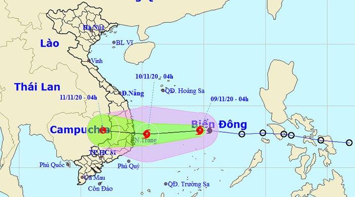 Áp thấp nhiệt đới mạnh lên thành bão Etau - cơn bão số 12 trong năm nay