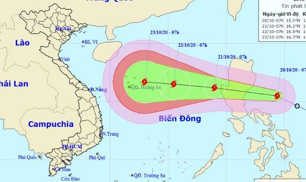 Áp thấp nhiệt đới mạnh lên thành bão số 8, có lúc giật cấp 14 hướng và vào miền Trung