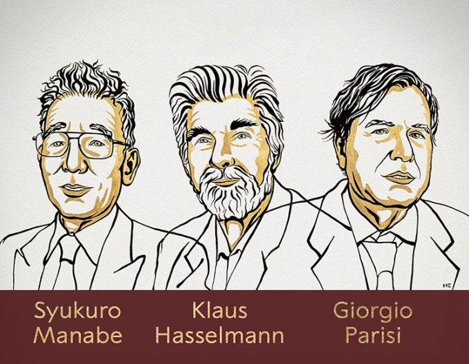 Ba nhà khoa học nhận giải Nobel Vật lý 2021