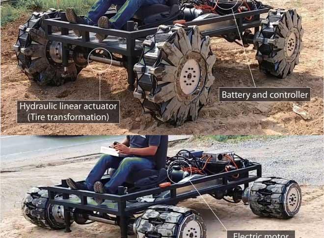 Bánh xe trong tương lai có thể biến hình như Optimus Prime
