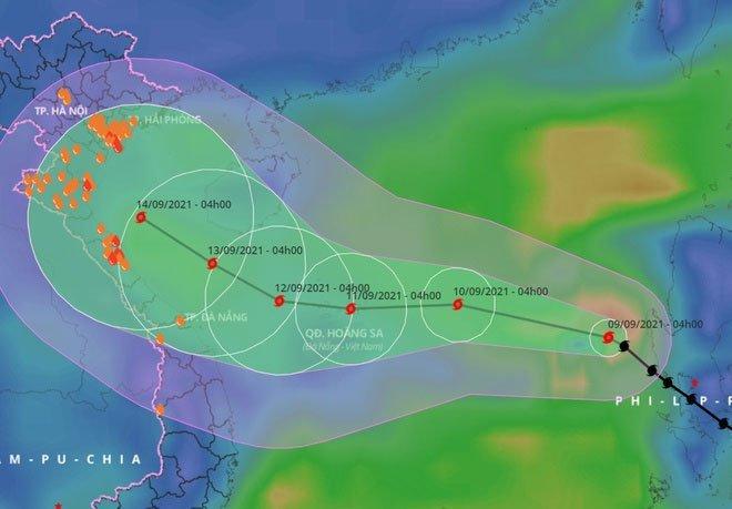 Bão Conson với sức gió mạnh cấp 9 tiến vào Biển Đông