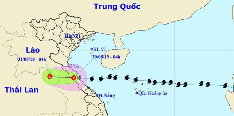 Bão Podul đổ bộ Quảng Bình