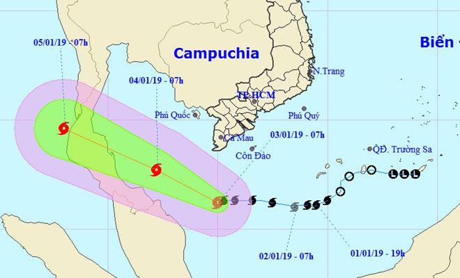 Bão số 1 tăng cấp, cảnh báo Nam Bộ mưa lớn, dông lốc và gió giật