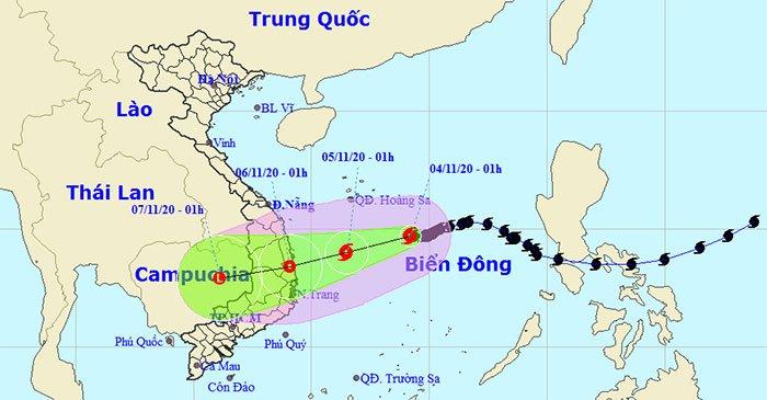 Bão số 10 giật cấp 10, cách quần đảo Hoàng Sa khoảng 330km