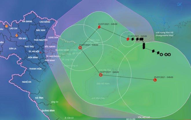 Bão số 3 sắp vào vịnh Bắc Bộ, Hà Nội mưa lớn