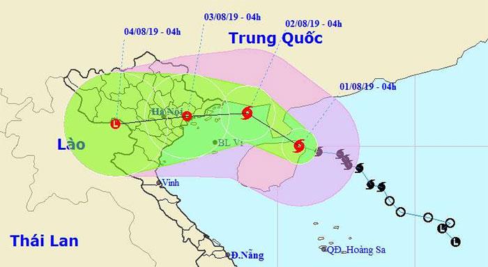 Bão số 3 sẽ đổ bộ trực tiếp từ Quảng Ninh đến Nam Định, Bắc Bộ mưa lớn