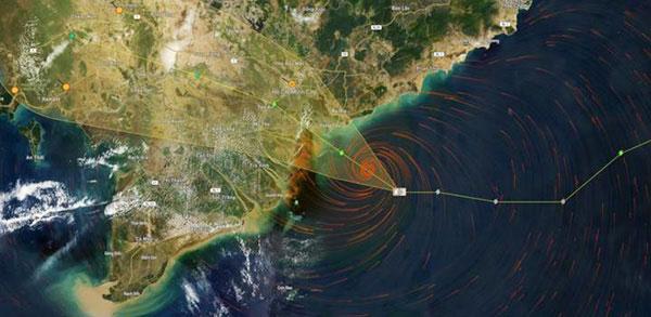 Bão Usagi áp sát Vũng Tàu, mưa lớn