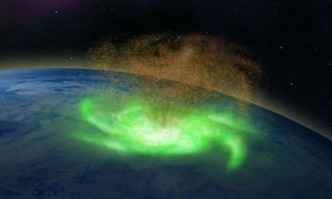 Bão vũ trụ rộng 1.000km xoay tròn phía trên Bắc Cực