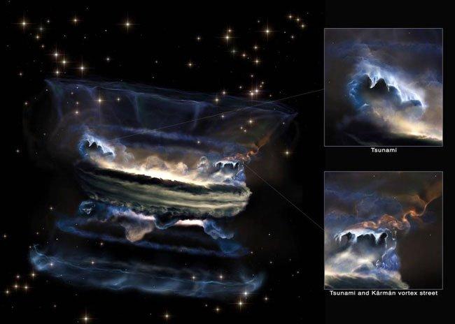 Bật mí về sóng thần khí xoáy khổng lồ trong các lỗ đen siêu lớn
