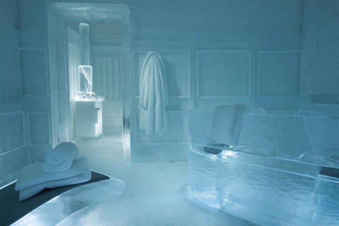 Bên trong khách sạn băng vĩnh cửu ở Thụy Điển