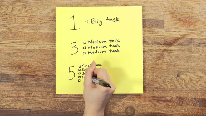 Bí kíp 1-3-5 ai cũng nên học để lên được một to-do list thật hiệu quả
