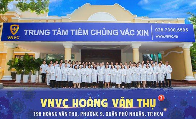Các trung tâm tiêm chủng thuộc hệ thống tiêm chủng VNVC trên toàn quốc